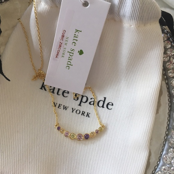 kate spade Jewelry - kate spade full circle multi color necklace nwt